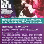 Flyer 6.Zumbaparty Zittau