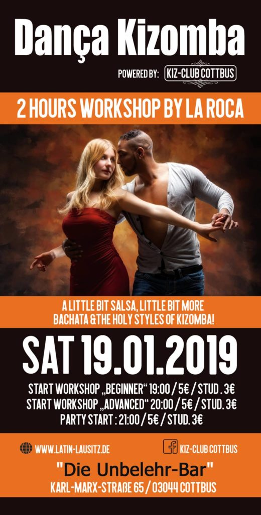 Danca Kizomba 12 Flyer